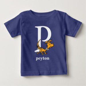 Dr. Seuss's ABC: Letter P - White | Add Your Name Baby T-Shirt