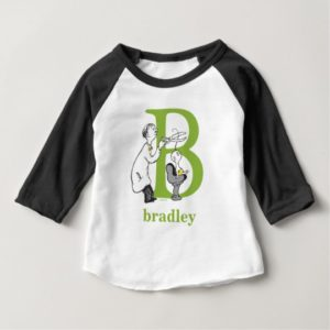 Dr. Seuss's ABC: Letter B - Green   Add Your Name Baby T-Shirt