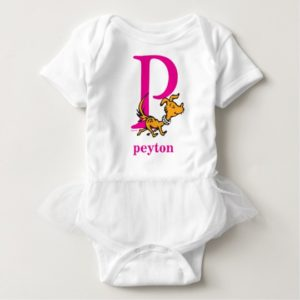 Dr. Seuss's ABC: Letter P - Pink | Add Your Name Baby Bodysuit