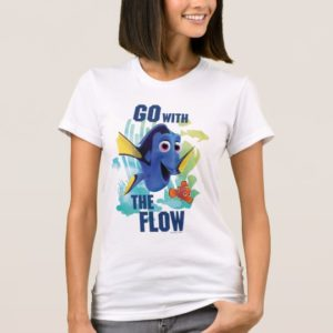 Dory & Nemo   Go with the Flow Watercolor Graphic T-Shirt