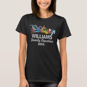 Disney Logo   Mickey and Friends - Family Vacation T-Shirt