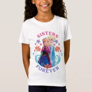 Anna and Elsa | Sisters with Flowers T-Shirt
