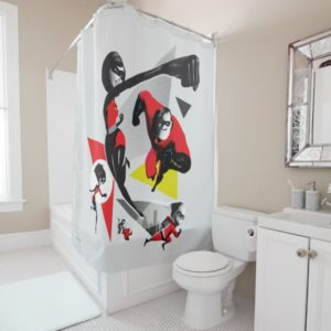 Incredibles 2 | Battling Villainy Shower Curtain