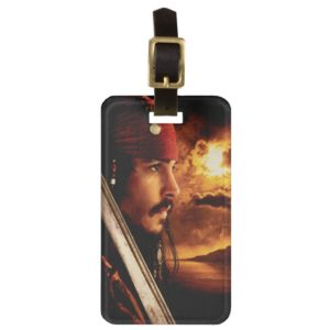 Jack Sparrow Side Face Shot Bag Tag