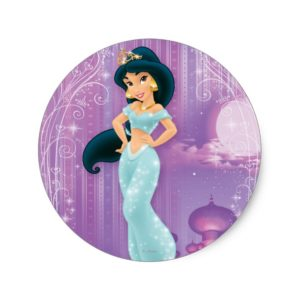 Jasmine Princess Classic Round Sticker