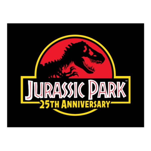 Jurassic Park 25th Anniversary Logo Postcard