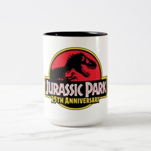 Jurassic Park 25th Anniversary Logo Two-Tone Coffee Mug