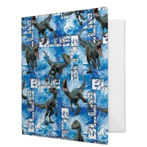 Jurassic World | Blue Pattern 3 Ring Binder