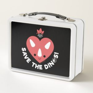 Jurassic World | Save the Dinos - Pink Heart Metal Lunch Box