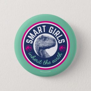 Jurassic World | Smart Girls Inherit the Earth Button