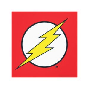 Justice League Action | Flash Lightning Bolt Logo Canvas Print