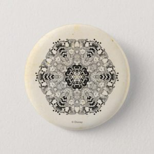 Mad Hatter Kaleidoscope Pinback Button