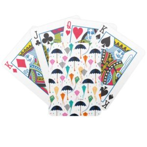 Magic Fills the Air Kite Pattern Bicycle Playing Cards