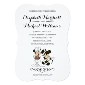 Mickey & Minnie Wedding | Married Invitation