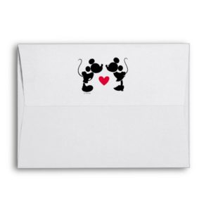 Mickey & Minnie Wedding   Silhouette Envelope