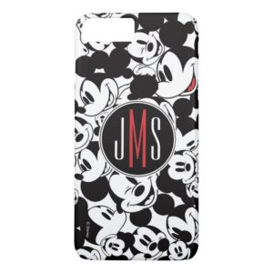 Mickey Mouse | Monogram Crowd Pattern Case-Mate iPhone Case