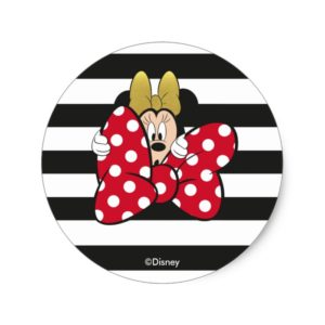 Minnie Mouse | Bow Tie Classic Round Sticker