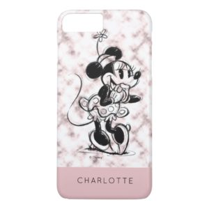 Minnie Mouse | Pink Marble - Add Your Name Case-Mate iPhone Case