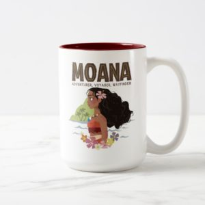 Moana | Adventurer, Voyager, Wayfinder Two-Tone Coffee Mug