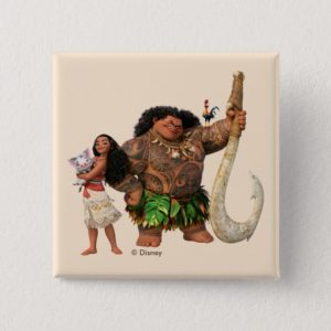 Moana   The Ocean Connects Us Button