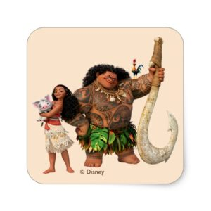 Moana   The Ocean Connects Us Square Sticker