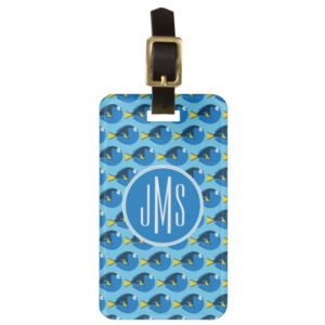 Monogram Finding Dory Pattern Bag Tag