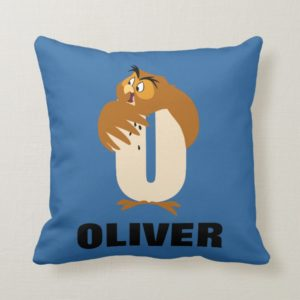 O is for Owl | Add Your Name Throw Pillow