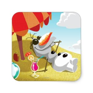 Olaf   Chillin' in the Sunshine Square Sticker