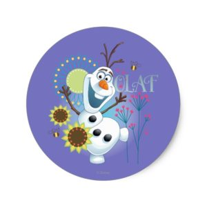 Olaf | It's a Perfect Day Classic Round Sticker