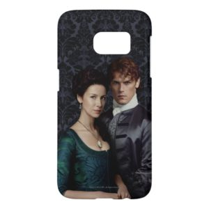 Outlander | Claire And Jamie Damask Portrait Samsung Galaxy S7 Case