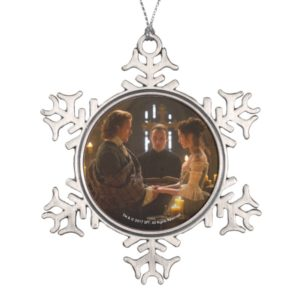 Outlander | Jamie & Claire's Wedding Snowflake Pewter Christmas Ornament