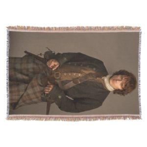 Outlander   Jamie Fraser - Kilt Portrait Throw Blanket