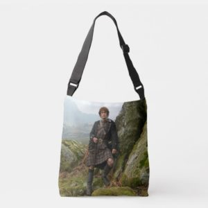 Outlander | Jamie Fraser - Leaning On Rock Crossbody Bag