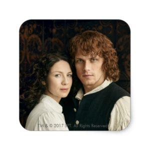 Outlander Season 3   Jamie and Claire Photograph Square Sticker