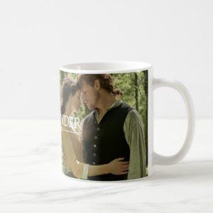 Outlander Season 4 | Jamie & Claire Hug in Woods Coffee Mug