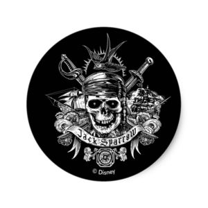Pirates of the Caribbean 5 | Jack Sparrow Skull Classic Round Sticker