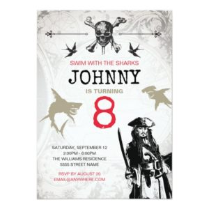 Pirates of the Caribbean   Birthday Invitation