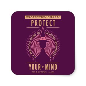 Protection Charm Guidebook Square Sticker