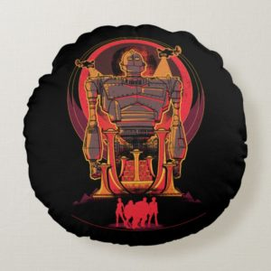 Ready Player One   High Five & Iron Giant Round Pillow