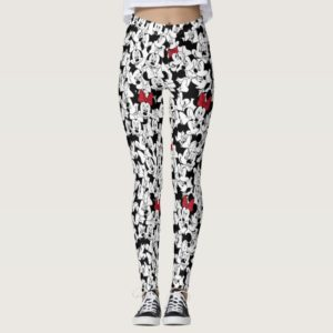 Red Minnie   Red Bow Pattern Leggings