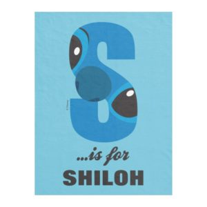 S is for Stitch | Add Your Name Fleece Blanket