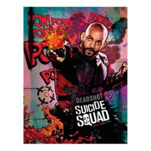 Suicide Squad   Deadshot Character Graffiti Postcard