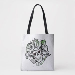 "Suicide Squad | Joker Skull ""All In"" Tattoo Art Tote Bag"