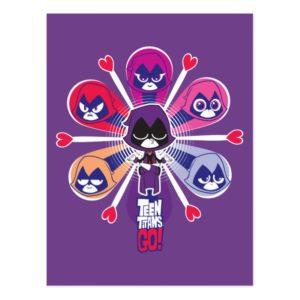 Teen Titans Go! | Raven's Emoticlones Postcard