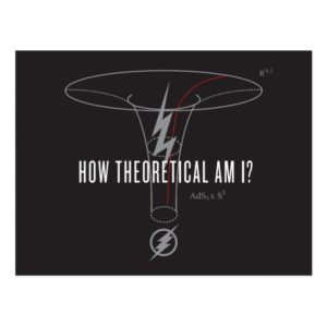 "The Flash | ""How Theoretical Am I?"" Postcard"