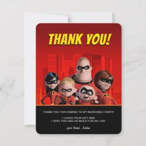 The Incredibles Family Birthday Thank You