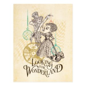 The Queen & Mad Hatter   Looking for Wonderland Postcard