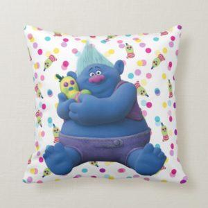 Trolls   Biggie & Mr. Dinkles Throw Pillow
