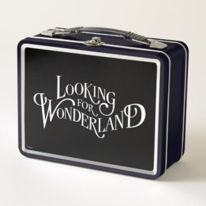 Typography   Looking for Wonderland Metal Lunch Box