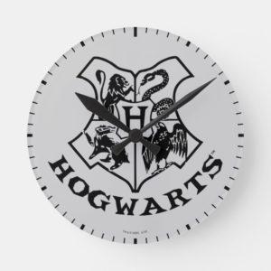 Vintage HOGWARTS™ School Crest Round Clock